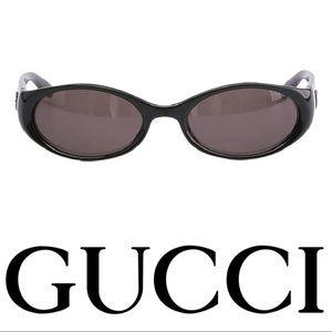 GUCCI 2457 black sunglasses, logo G Gucci temple